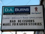 Bad Decisions Make for Good Stories reader board