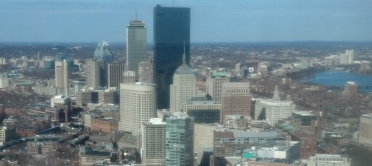 Boston from my office window.