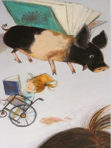 Flying Pig painting