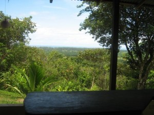 The view from Jennifer's writing desk in Costa Rica.