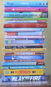z Middle Grade Book Pile