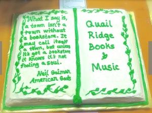 Quail Ridge Book Cake