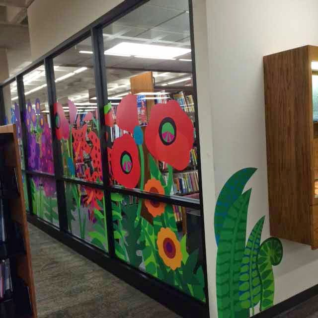 CCBC flower wall