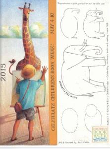 Children's Book Week bookmark by Raúl Cólón