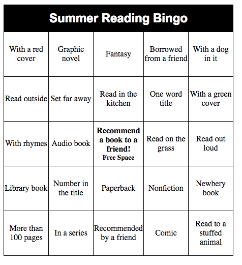 Make Your Own Bingo Card: Make Your Own Summer Reading Bingo Game